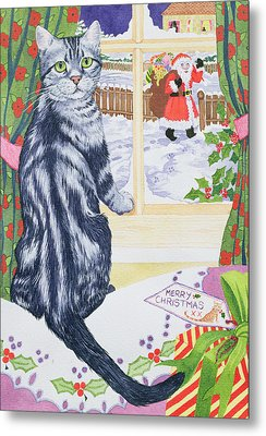 A Christmas Visitor For Toby Metal Print by Suzanne Bailey