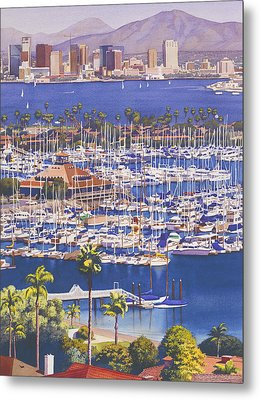 A Clear Day In San Diego Metal Print