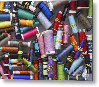 A Close View Of Threads Metal Print by Bernard Jaubert
