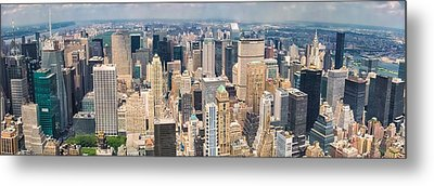 A Cloudy Day In New York City   Metal Print
