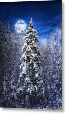 A Cold Night In Northern Maine Metal Print by Gary Smith