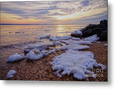 Metal Print featuring the photograph A Cold Sandy Hook Winter by Debra Fedchin