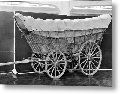 A Conestoga Covered Wagon Metal Print by Underwood Archives