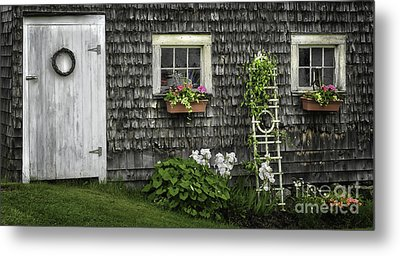 A Cottage Garden - Essence Of Mid Coast Maine Metal Print