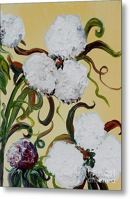 A Cotton Pickin' Couple Metal Print by Eloise Schneider