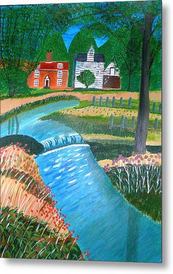 A Country Stream Metal Print by Magdalena Frohnsdorff