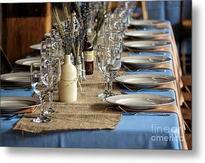 A Country Wedding Metal Print by Olivier Le Queinec