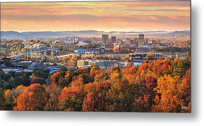 A Crisp Fall Morning In Chattanooga  Metal Print