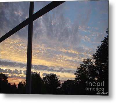 Metal Print featuring the photograph A Cross The Sky by Lyric Lucas