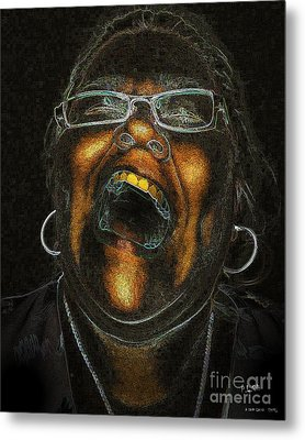 A Dark Laugh Metal Print