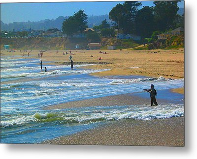 A Day At The Beach #1 Metal Print