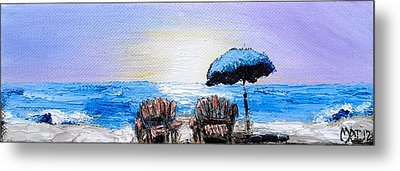 A Day At The Beach Metal Print by Melissa Torres