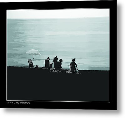 Metal Print featuring the photograph A Day At The Beach by Pedro L Gili