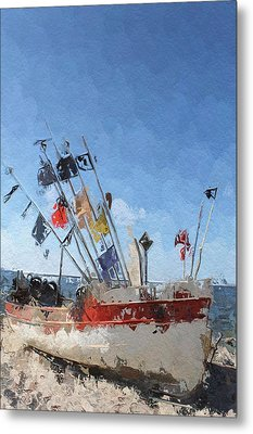 A Day At The Beach Metal Print by Steve K