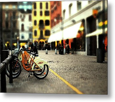 A Day In The City Metal Print by Cole Black