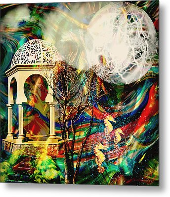 Metal Print featuring the mixed media A Day In The Park by Ally  White