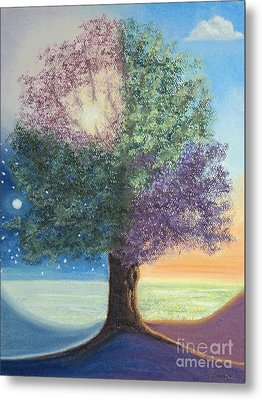 A Day In The Tree Of Life Metal Print by Stanza Widen
