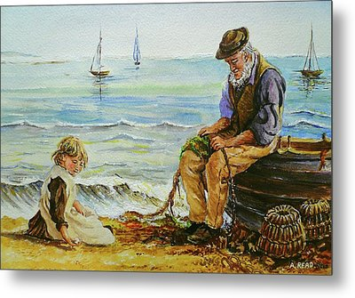 A Day With Grandad Metal Print by Andrew Read