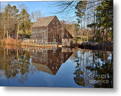 Metal Print featuring the photograph A December Reflection by Bob Sample