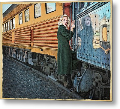 A Departure Metal Print by Meg Shearer