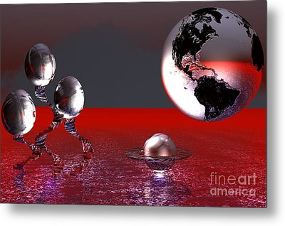 A Different World Metal Print by Jacqueline Lloyd