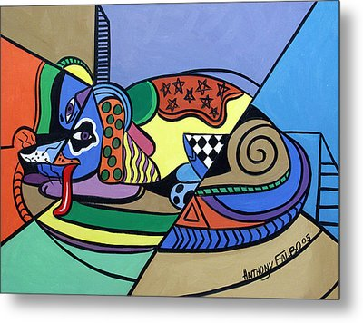 A Dog Named Picasso Metal Print by Anthony Falbo