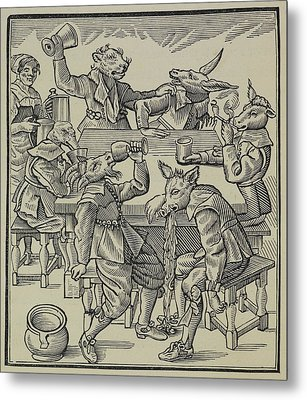 A Donkey Metal Print by British Library