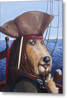 A Doodle On The High Seas Metal Print by Diane Daigle