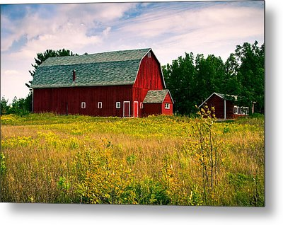 A Door County Barn Metal Print