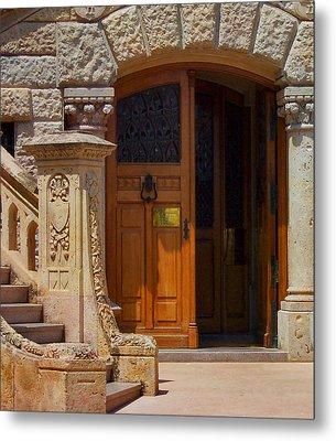 A Door In Monaco Metal Print by Christine Burdine