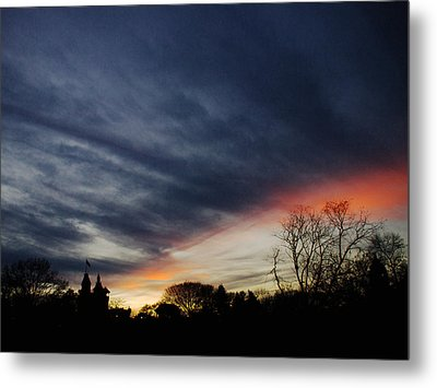 A Dramatic End Of The Day Metal Print by Cornelis Verwaal