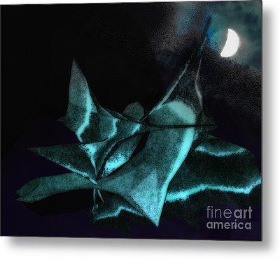 A Dream - Flying To The Moon Metal Print by Gerlinde Keating - Galleria GK Keating Associates Inc