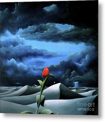 A Dream Of Rain Among A Sea Of Silence Metal Print
