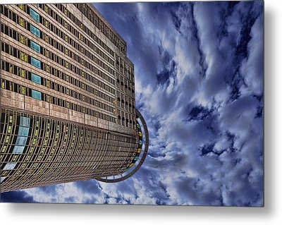 Metal Print featuring the photograph A Drifting Skyscraper by Ron Shoshani