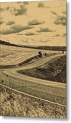 A Drive In The Country Metal Print by Bonnie Bruno