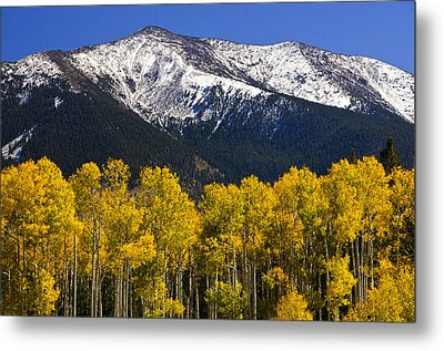 A Dusting Of Snow On The Peaks Metal Print by Saija  Lehtonen