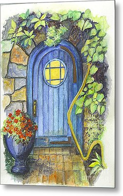 Metal Print featuring the painting A Fairys Door by Carol Wisniewski