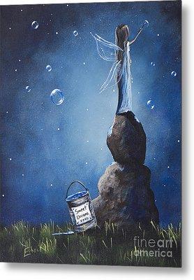 A Fairy's Nighttime Gift By Shawna Erback Metal Print by Shawna Erback
