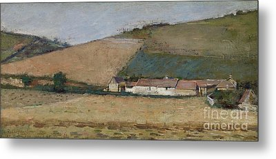 A Farm Among Hills Metal Print by Theodore Robinson