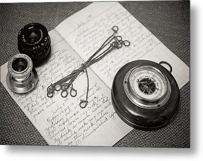 A Farmer's Journal Metal Print
