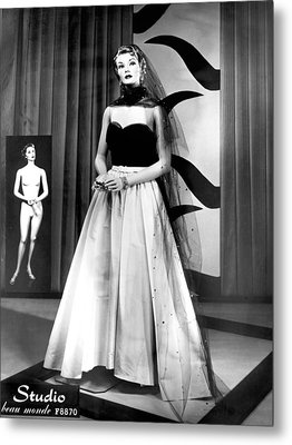 A Fashionable Mannequin Metal Print by Underwood Archives