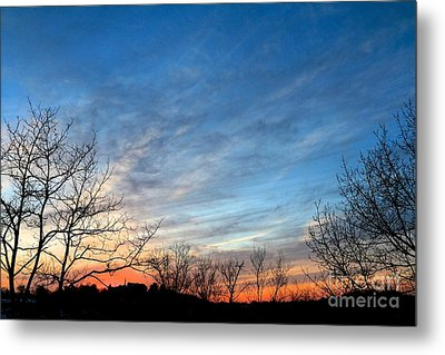 A February Sunset Metal Print by Jay Nodianos