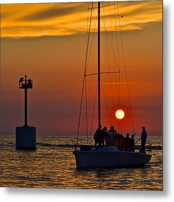 A Fine Days End Metal Print by Frozen in Time Fine Art Photography