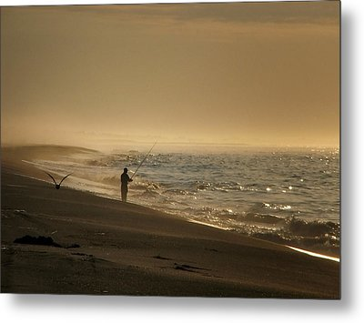 Metal Print featuring the photograph A Fisherman's Morning by GJ Blackman