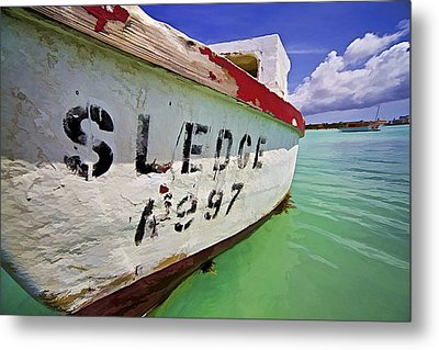 A Fishing Boat Named Sledge II Metal Print by David Letts