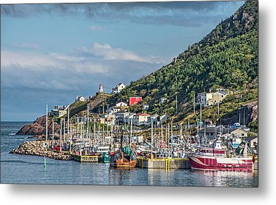 A Fishing Harbour In Newfoundland Canada Metal Print