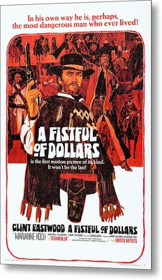 A Fistful Of Dollars, Us Poster Art Metal Print by Everett