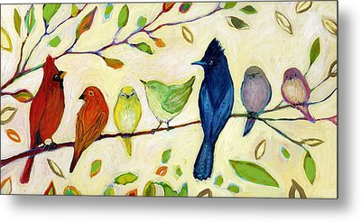 A Flock Of Many Colors Metal Print by Jennifer Lommers