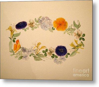 A Flower Circle Metal Print by Nancy Kane Chapman