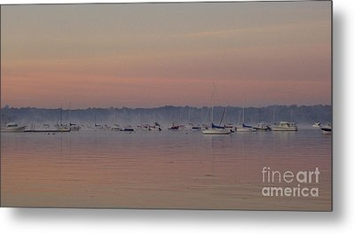 Metal Print featuring the photograph A Foggy Fishing Day by John Telfer